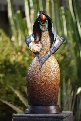 """Messenger"" bronze sculpture by Kim Obrzut, among the featured artists at the Fine Art & Wine Festival."
