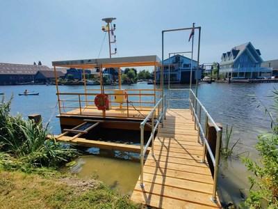 Commercial Robotaxi Solar Electric Autonomous Ferry Service Dock by Buffalo Automation.