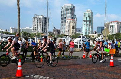 The 2021 St. Anthony's Triathlon, known for its scenic views along St. Petersburg's downtown waterfront, has been cancelled because of the resurgence of COVID-19 in the Tampa Bay area.