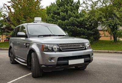 On the move satcom mounted on vehicle (PRNewsfoto/Get SAT)
