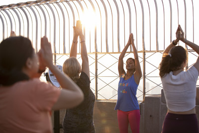 Belize Tourism Board Hosts Sunrise Yoga at Empire State Building