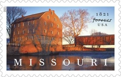 Bollinger's Mill and Burfordville Covered Bridge Featured on Missouri Statehood Stamp