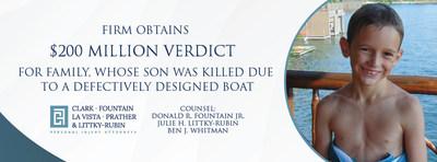 Clark Fountain obtains $200 Million Verdict for Ryan Batchelder