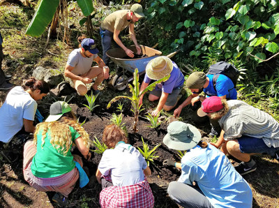 Staff horticulture training at Pacific Quest
