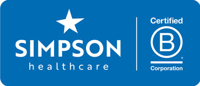 Simpson Healthcare and Certified B Corporation Logo
