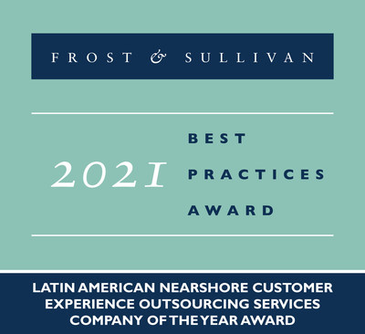 2021 Latin American Nearshore Customer Experience Outsourcing Services Company of the Year Award