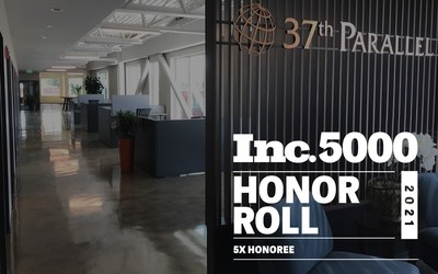 37th Parallel was named to the Inc. 5000 list for the fifth time in the last six years.