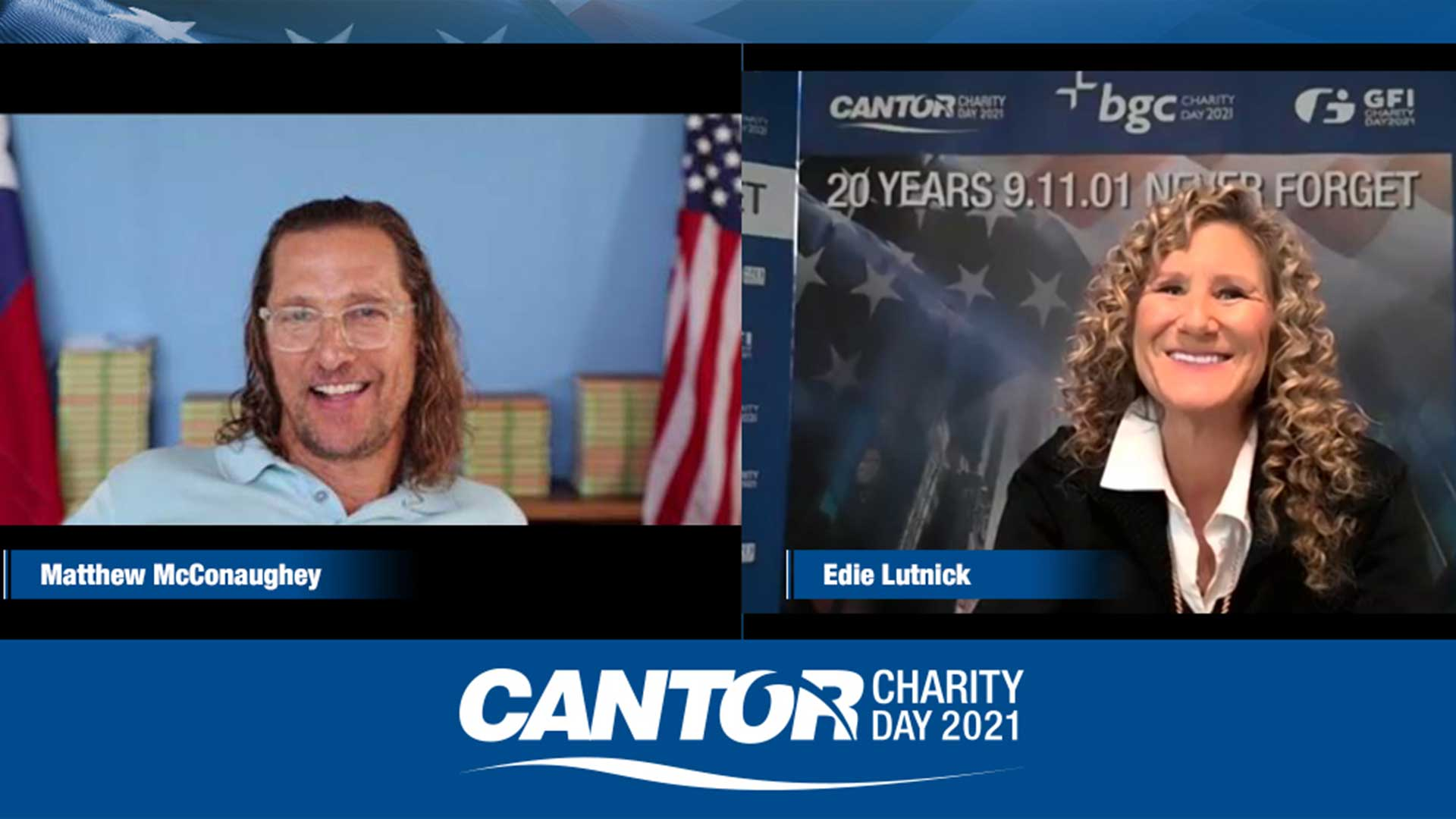 Cantor Fitzgerald Charity Day 2021: Never Forget. Give Back.