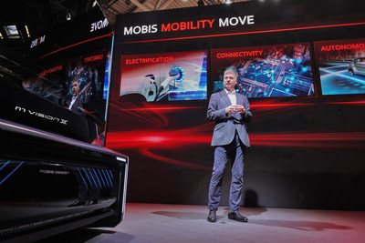 Axel Maschka, Executive VP of Hyundai Mobis presents the company's vision for EV mobility at IAA Mobility 2021