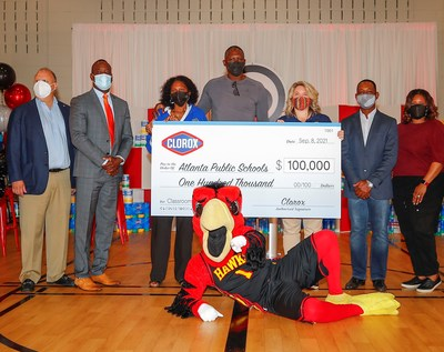 On Wednesday, Sept. 8, 2021, the Clorox brand officially announced its $1,000,000 donation to support teachers across the country through DonorsChoose. To celebrate teachers in the backyard of its largest production plant in Atlanta, Ga., Clorox also donated $100,000 along with a year's supply of Clorox Disinfecting Wipes to Atlanta Public Schools to help keep classrooms clean this school year.