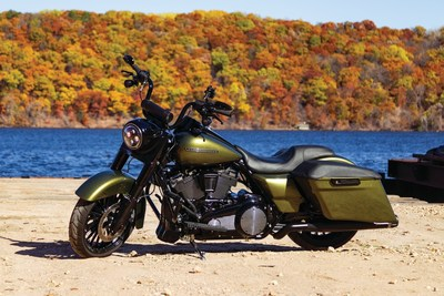 Kuryakyn offers a range of accessories for which fit virtually every motorcyle made. This customized Harley-Davidson is just one example of how Kuryakyn's cool looking and functional accessories make a motorcycle even better.